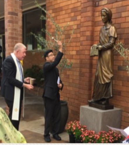 blessing new statue